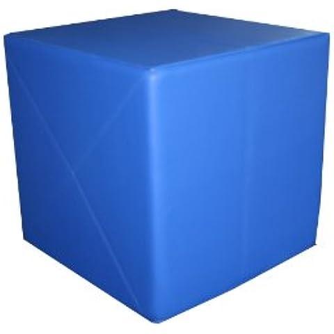 Cubo da ginnastica, 50 x 50x 50 cm, cuore solido, Blu (blu), 50 x 50 x 50 cm