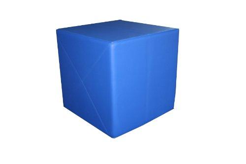 Cubo da ginnastica, 50 x 50x 50 cm, cuore solido, Rosso (rosso), 50 x 50 x 50 cm