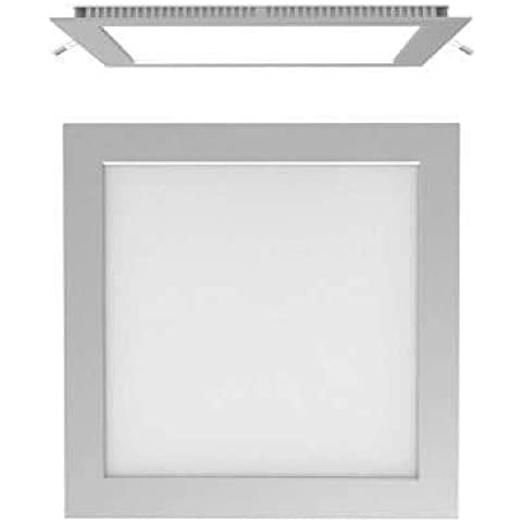 CristalRecord 02-107-18-181 - Foco downlight, LED extraplano, cuadrado, 20 W, luz neutra, 4000° K, color gris