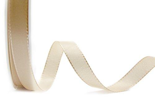 Dekoband TAFTBAND 50 m x 1,5 cm BEIGE Geschenkband Stoffband 15 mm Tischdeko Hochzeit Ostern Schleifenband Visco Taft Kartengestaltung...