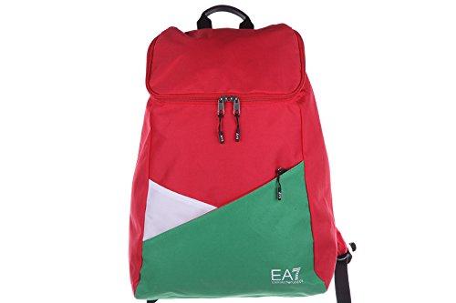 Emporio Armani EA7 zaino borsa uomo nylon originale tricolor italy rosso
