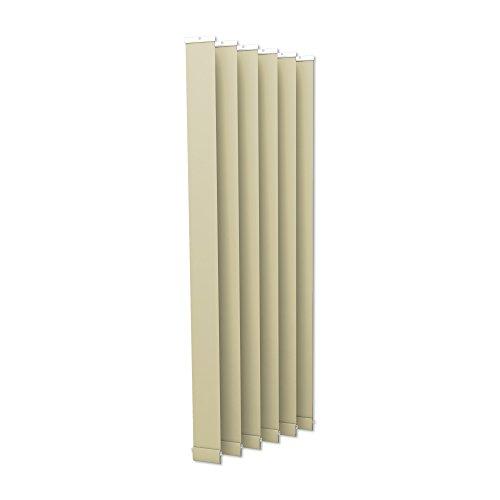 Victoria m tenda a lamelle verticali isabella - forma a i, oscurante - 12,7 x 250cm, beige | pacco da 6