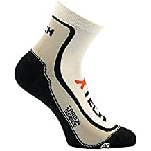 XTech Calcetines Térmicos Ciclismo Montaña O MTB; Outdoor Microfibra Ligeros Unisex Blanco blanco Talla:35-38
