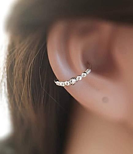 Silber Ohrmuschel Ohrring Conch Ohrringe Piercing Ring 0.8mm - 1.4mm Drahtstärke