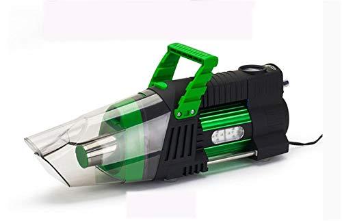 XYYMC Auto Staubsauger Handstaubsauger 5-in-1 Hand-Auto Auto Vakuum 12V / 180W Auto Vac Nass Trocken Reifen Inflator Pumpe Manometer mit LED-Licht (Grün) -