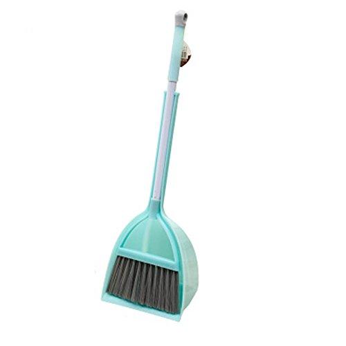 Preisvergleich Produktbild Black Temptation Kinder Housekeeping TOY Reinigung Spielen Set-Kinder Besen Dustpan Mop Anzug,  Mint Green