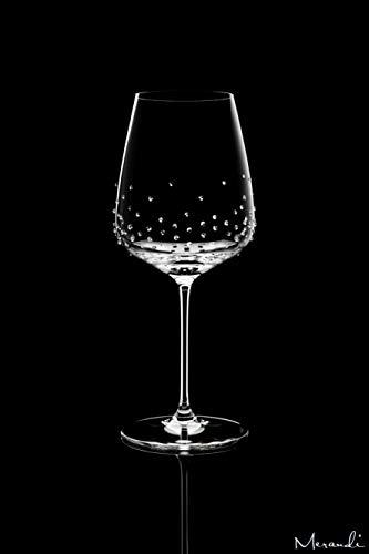 Merandi lancer - set di 2 bicchieri da bordeaux, con cristalli swarovski®, 635 ml