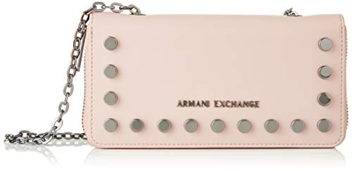 Armani Exchange Damen Stud Chain Wallet Handgelenkstasche, Pink (Under The Skin), 10.5x3x19 cm