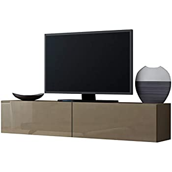 Meuble Tv Design Suspendu Vito 180cm Taupe Amazon Fr Cuisine