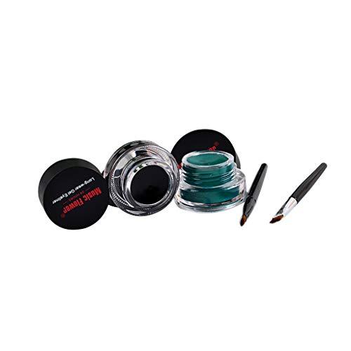 eyeliner gel, Eye Liner Lidschatten Pinsel eyeliner Doppelt-Farben Augen Zwischenlagen Creme...
