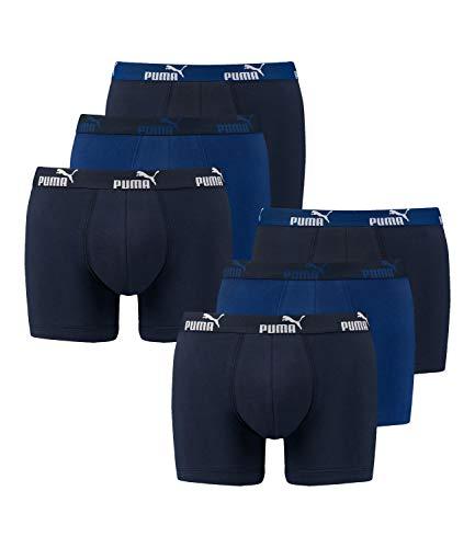 Puma Boxershorts Unterhosen Shorts Promo Boxer 681005001 6er Pack, Farbe:Blau, Wäschegröße:M, Menge:6er Pack (2X 3er), Artikel:-609 Dark Blue Combo