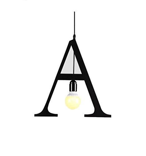 Nickel-5-spray (Pendelleuchten Briefe Kronleuchter personalisierte Bügeleisen Bekleidungsgeschäft Lichter Restaurants Cafes Rechtschreibung Beleuchtung Warm Light 5W A)