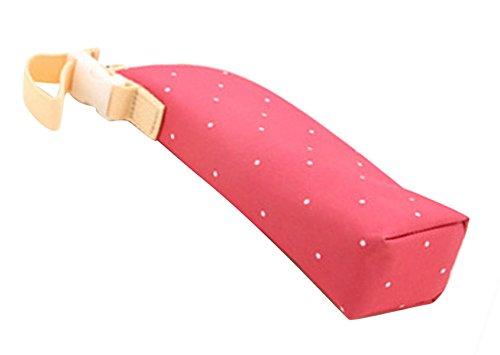 Aivtalk Thermos Tasche für Baby Isoliertasche Wärmer Babyflaschen Punkte Drucken Polyester Babyflaschen Tasche Bautel mit Haken für Kinderwagen - Rosa rot