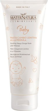 MATERNATURA BABY - Pasta Cambio Lenitiva alla Primula - Delicata emulsione lenitiva contro irritazioni ed arrossamenti - Biologico, Vegan, Nickel Tested