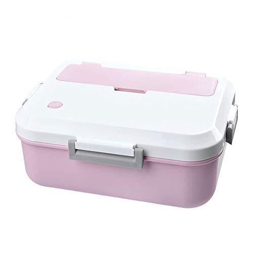 WPCBAA Brotdose Umweltfreundliche Lebensmittelbehälter mit Geschirr Bento Box für Kinder Schule für Erwachsene Büro Picknick Microwavable (Farbe : Rosa) - Erwachsenen-lunch-box Rosa