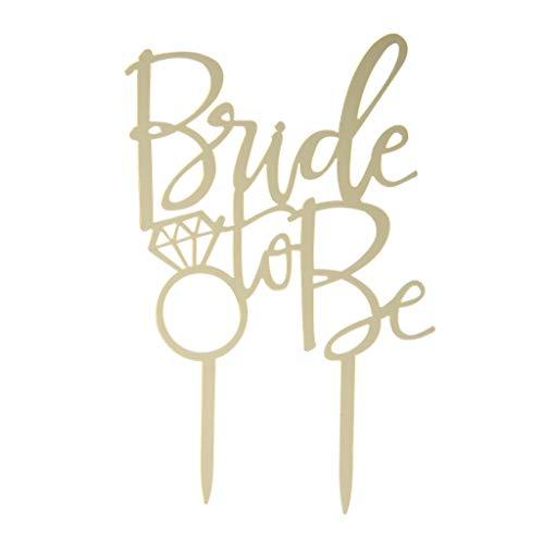 Kuchen Topper Cupcake Hochzeit Engagement Bridal Party Dekoration sein, Küche Backzubehör ()