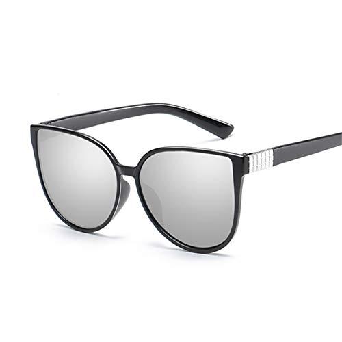 Daawqee Cat Eye Sunglasses Women Glasses Lady Luxury Retro Metal Sun Glasses Female Vintage Mirror Oculos De Sol Feminino UV400 Silver