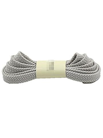 Wiftly 1 Pair Lacets Plats cirées pour Chaussures de Sport Bottes Les souliers Semelles doubles creux 0.8 CM de Largeur (Gris, 100 CM)