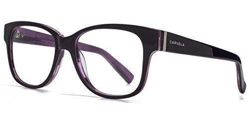 Carvela Grands verres carrés en violet CAR001-PUR clear