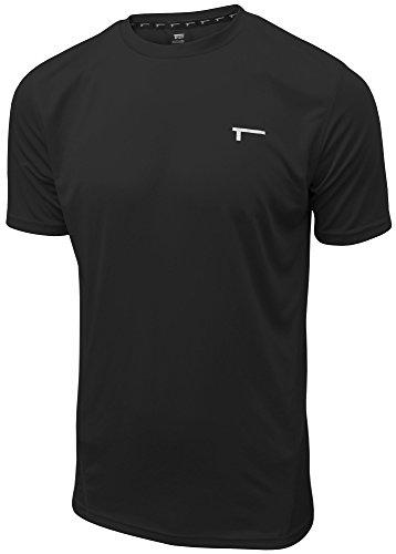 TREN Herren COOL Ultra Lightweight Performance SS Tee Funktionsshirt T-Shirt Kurzarm Schwarz 001 - M - Performance Tee