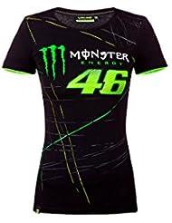 Valentino Rossi VR46 Moto GP Monster Energy Monza Mujer Camiseta Oficial 2017