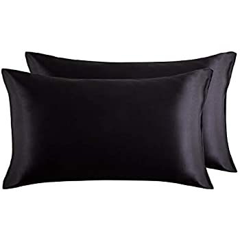 Jasmine Silk 100 Charmeuse Silk Pillowcase Black 50 Cm