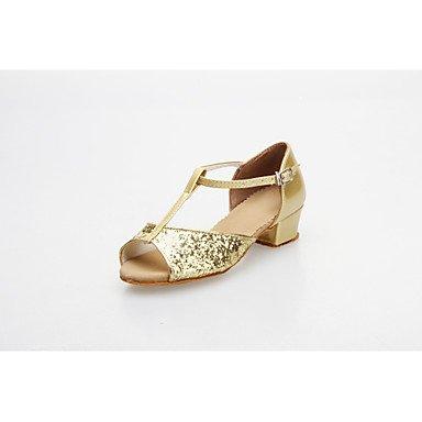 Ruhe @ Ballsaal Praxis Schuhe funkelnden Glitter oberen Latin Dance Schuhe für Frauen und Kinder mehr Farben Gold