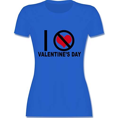 Valentinstag Anti Kostüm - Valentinstag - I Hate Valentine's Day - XL - Royalblau - L191 - Damen Tshirt und Frauen T-Shirt