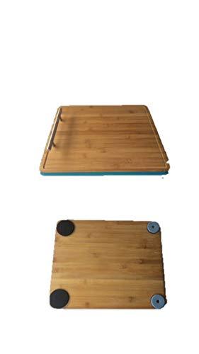 Bamboo James Premium®- Gleitbrett Holz-Gleiter Untersetzer aus Massivholz für den Thermomix TM5 / TM31 und weiteren Geräten e nach Lagerbestand roter Blauer grüner oder gelber Rand