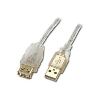 Connectland EXT-USB-V2-2M Câble USB Version 2.0 A Mâle vers A Femelle 2 m Argent