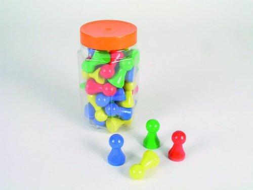 36er-Set besonders große Halmakegel,Spielfigur 'Maxi Plus' aus Holz (50 mm), farblich gemischt