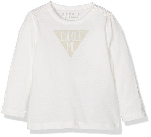 Esprit Kids Unisex Baby T-Shirt, Weiß (Off White 110), One size (Herstellergröße: 62)