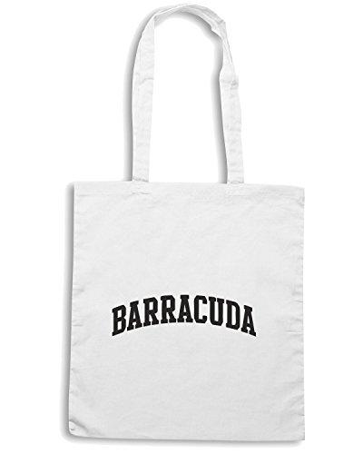 T-Shirtshock - Borsa Shopping OLDENG00016 barracuda curve Bianco