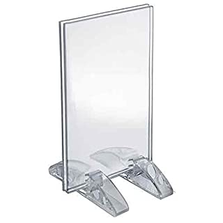 Azar Displays 132731 3.5-Inch by 5-Inch Vertical or Horizontal Dual Stand Acrylic Sign Holder, 10-Pack by Azar Displays