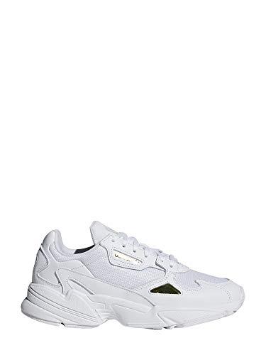 adidas Falcon W, Zapatillas para Mujer, Multicolor (FTWR White/FTWR White/Gold Met. Ee8838), 38 EU