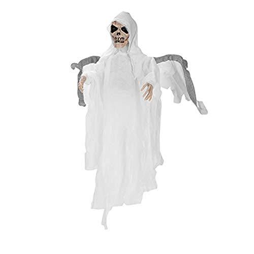 Halloween Kostüm Unisex Batman mit Flügel für Damen Herren kinder Jungen Halloween Kleidung Geist Schal Kapuze Maske horror zombie Teufel Halloween Mantel vampir umhang für Karneval Party Cosplay Weiß