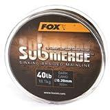 Fox Submerge sinking Braided Mainline geflochtene Karpfenschnur 300m, Durchmesser:0.20mm