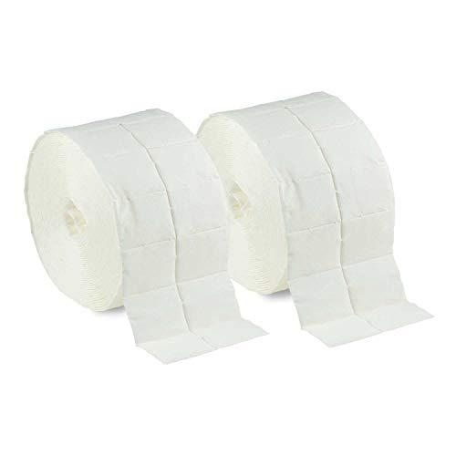 Rotolo di salviette pad in confezione doppia con 2 rotoli da 500 batuffoli set da 10-pelle disinfezione delle mani e pulizia