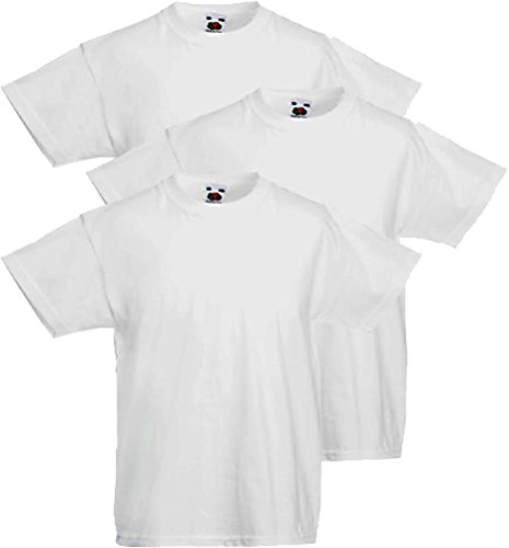 Fruit of the Loom 3 T Shirt Bambino Valueweight