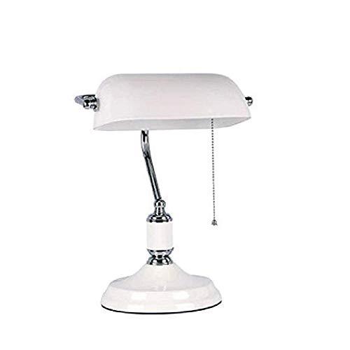 Stil Banker Schreibtisch Beleuchtung Antik Messing TischlampeAntik Stil Schreibtisch LeuchteSatin Messing FinishMetall Perlen Zugschnur Schalter angebracht - Leuchte-messing-finish