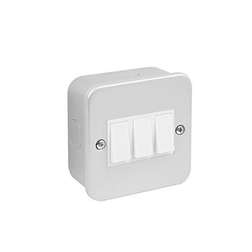 Interruptor de metal con revestimiento de 2 vías, 3 interruptores