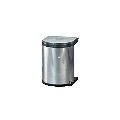 Einbau Abfallsammler 15 Liter rund EDELSTAHL Wesco