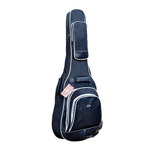 F-dujin Gitarrentasche Folk-Rucksack für 41 Zoll 42 Zoll Dicker Stoff Gitarrenrucksack, langlebig wasserdicht