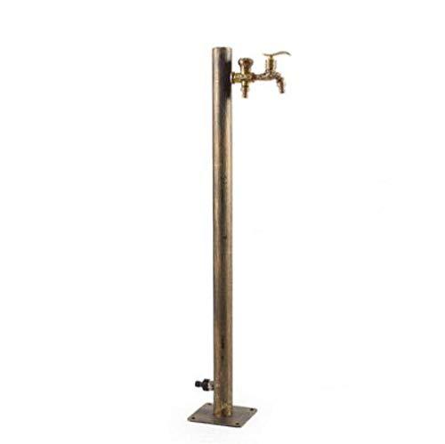 Wasserhähne Edelstahl Antike Bronze Fertige Garten Wasserhahn Bodenbelag Outdoor Wasserhahn Waschmaschine Wasserhahn Runde @ Bronze -