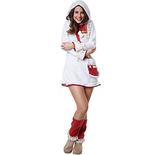 Damenkostüm edle Eskimodame, Traditionelles Kurzkleid inkl. Beinstulpen und Umhängetasche (M | Nr. 302604) ()
