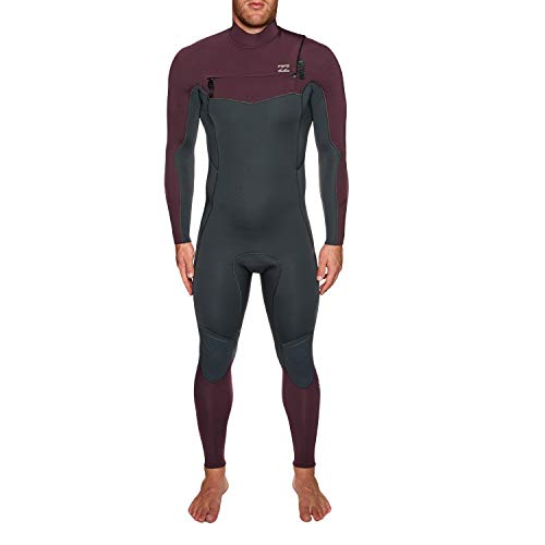 BILLABONG Furnace Absolute 4/3 MM Chest Zip Wetsuit dunkle Pflaume - Easy Stretch Thermal Ofenausfütterung - 250% Stretch - Dry -