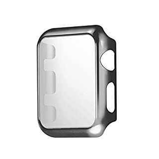 Protective Cover Case for Apple Watch 2015 38mm 1st Generation A1553, Dark Gray Black