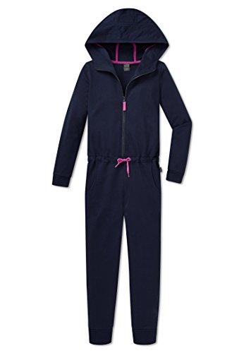 SCHIESSER Mädchen Overall Jumpsuit mit Kapuze nachtblau 153809 (128)