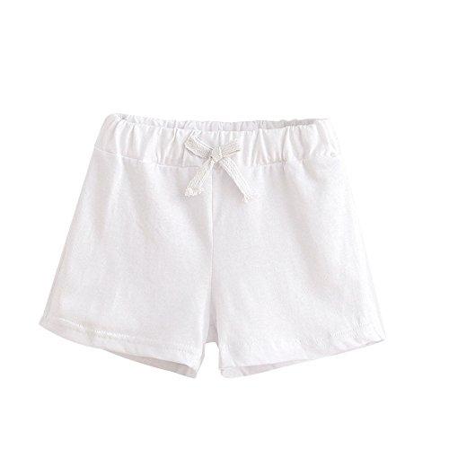 Honestyi BabyBekleidung Kinder Sommer Baumwolle Shorts Sommer Kinder Baumwolle Shorts Jungen und Mädchen Kleidung Baby (140,Weiß)
