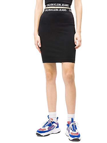 Calvin Klein Jeans Damen Rock Milano schwarz S (36) - Calvin Klein Jeans-rock